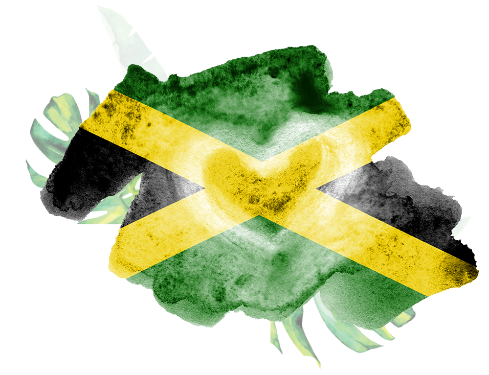 jamaica flag depicted liquid watercolor style isolated white background careless paint shading image national 140173401 copy